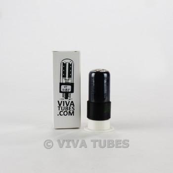 Tests NOS Sylvania USA 6V6GT Black Plate Foil D Get Smoked Leaf Logo Vacuum Tube