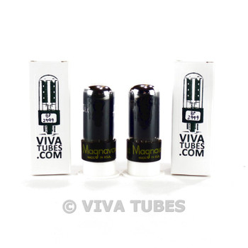 Tests NOS Date Matched Pair Sylvania USA 6V6GT Black P Smoked Tubes
