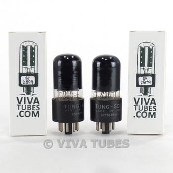 Tests NOS Matched Pair Tung-Sol (Vintage) USA 6V6GT Black Plate [] Get Tubes