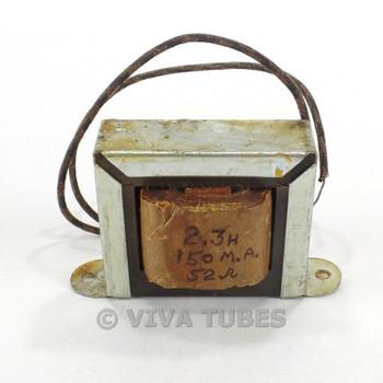 Vintage 6X17 Filter Filter Choke Transformer 2.3 HY 150 mA 60 ohm