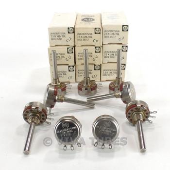 Vintage Lot of 9 Allen-Bradley JA1N200P752UA Type J Potentiometers 7.5K ohm