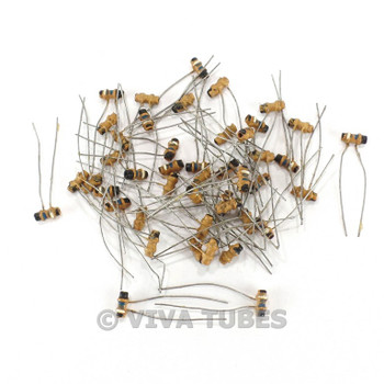 Vintage Lot of 45 Small Tubular Ceramic Capacitors 6.8Pf