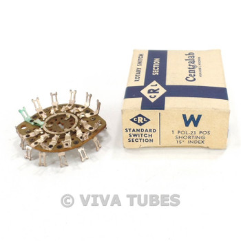 NOS NIB Vintage Centralab Section W Rotary Switch Wafer 1 POL 23 POS
