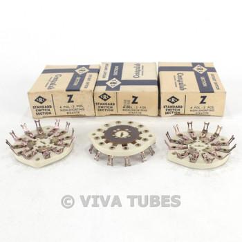 NOS NIB Vintage Lot of 3 Centralab Ceramic Rotary Switch Wafers 4 POL 2 POS
