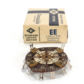 NOS NIB Vintage Centralab Section EE Rotary Switch Wafer 4 POL 3 POS