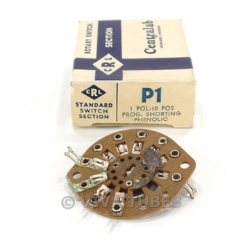 NOS NIB Vintage Centralab Section P1 Rotary Switch Wafer 1 POL 10 POS