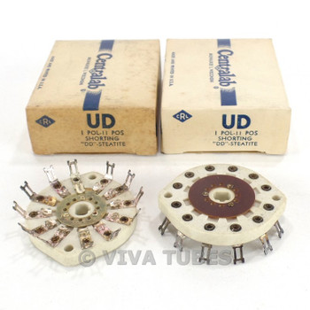 NIB NOS Vintage Lot of 2 Centralab Ceramic Rotary Switch Wafers 1 POL 11 POS
