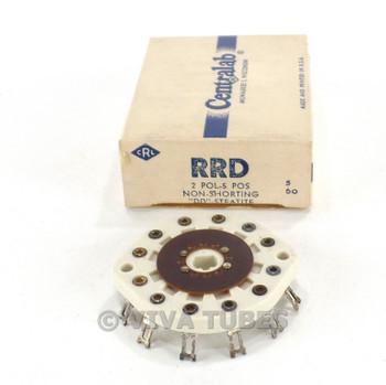 NOS NIB Vintage Centralab Ceramic Rotary Switch Wafer 2 POL 5 POS