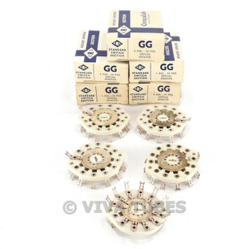 NOS NIB Vintage Lot of 5 Centralab Ceramic Rotary Switch Wafers 1 POL 10 POS