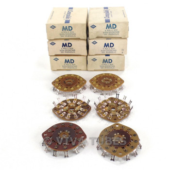 NOS NIB Vintage Lot of 6 Centralab Section MD Rotary Switch Wafers 4 POL 2 POS