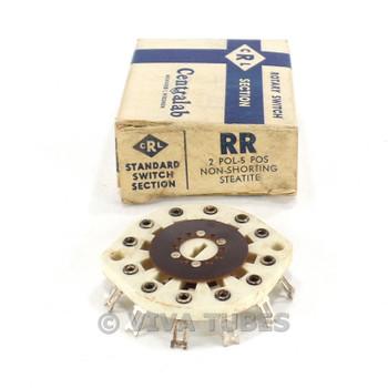 NOS NIB Vintage Centralab Ceramic Rotary Switch Wafer 2-POL 5 POS