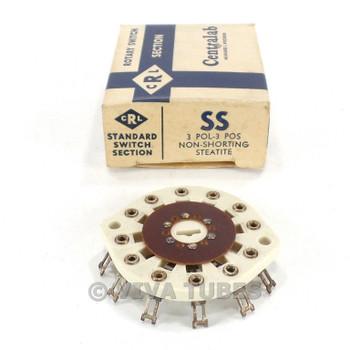 NOS NIB Vintage Centralab Ceramic  Rotary Switch Wafer 3 POL 3 POS