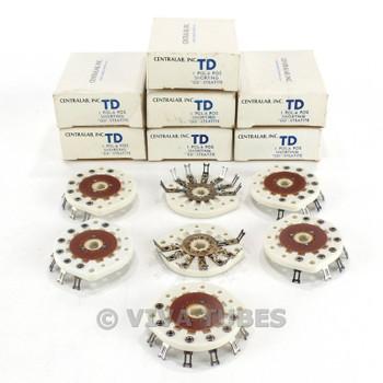 NOS NIB Vintage Lot of 7 Centralab Ceramic Rotary Switch Wafers 1 POL 6 POS