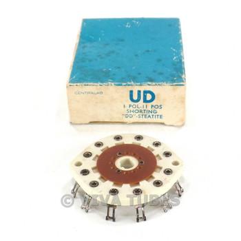 NOS NIB Vintage Centralab Ceramic Rotary Switch Wafer 1 POL 11 POS