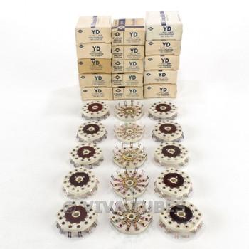 NOS NIB Vintage Lot of 15 Centralab Ceramic Rotary Switch Wafers 1 POL 11 POS