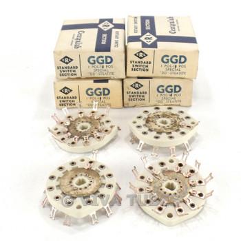 NOS NIB Vintage Lot of 4 Centralab Ceramic Rotary Switch Wafers 1 POL 11-POS