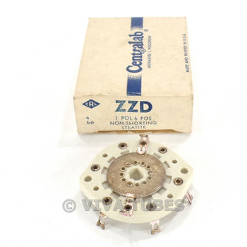 NOS NIB Vintage Centralab Ceramic Rotary Switch Wafer 1 POL 6 POS