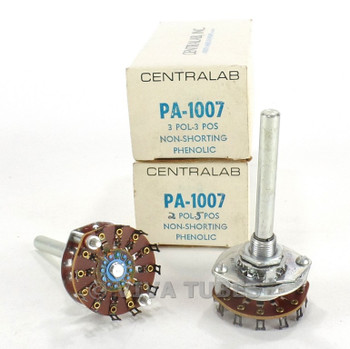 NOS NIB Vintage Lot of 2 Centralab Model PA-1007 Switches 3 POL 3 POS