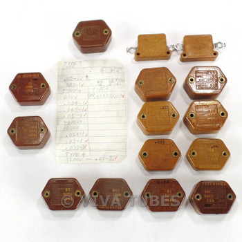 Lot of 15 Sangamo/C-D Flat TypeA2, TypeH, & Type9L Mica Capacitors Various MFD