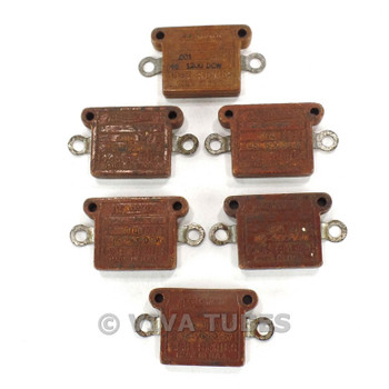 Vintage Lot of 6 Aerovox 1445 Series Flat Mica Capacitors.014uF & .001 uF
