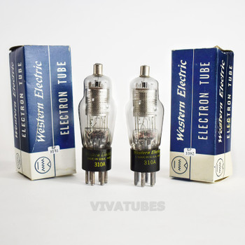 True NOS NIB Matched Pair Western Electric USA 310A [] Get Vacuum Tubes