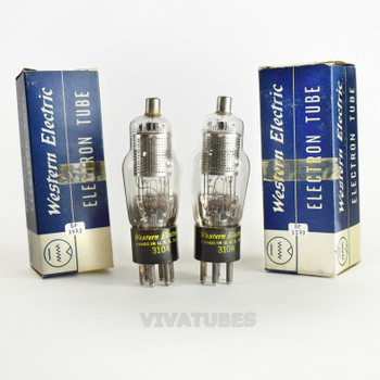 True NOS NIB Date Matched Pair Western Electric 310A [] Get Vacuum Tubes