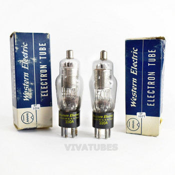 True NIB NOS Date Matched Pair Western Electric 310A [] Get Vacuum Tubes