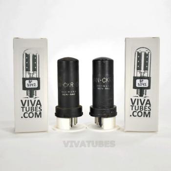 Tests NOS Date Matched Pair Ken-Rad USA JAN-CKR-6V6/VT-107 Metal Rust Tubes