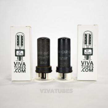 Tests NOS Matched Pair Ken-Rad USA JAN-CKR-6V6/VT-107 Metal Vacuum Tubes 100+%