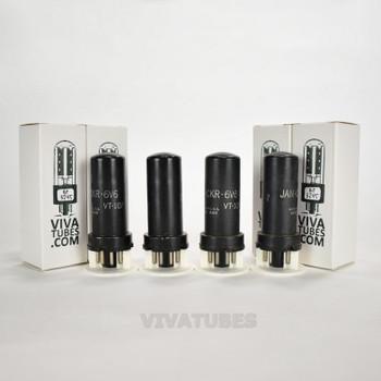 Tests NOS Date Matched Quad (4) Ken-Rad USA JAN-CKR-6V6/VT-107 Metal Tubes