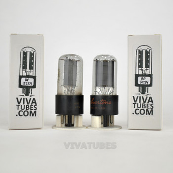 Tests NOS Matched Pair RCA USA 6V6GTA Grey Plate 2 BTM [] Get Vacuum Tubes 100%
