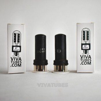 Tests NOS Date Matched Pair RCA JAN-CRC-6V6Y Metal Brown Vacuum Tubes