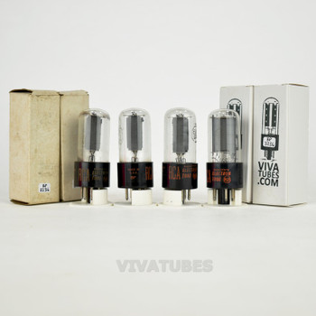 Tests NOS Matched Quad (4) RCA USA 6V6GTA Grey Plate 2 BTM [] Get Vacuum Tubes