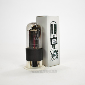 Tests NOS GE USA 6W6GT Black Box Plate Side O Get Vacuum Tube 100+%