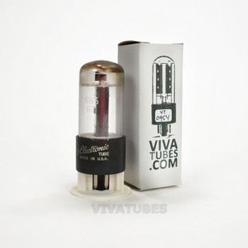 Tests NOS GE USA 6W6GT Black Box Plate Top O Get Vacuum Tube 100+%