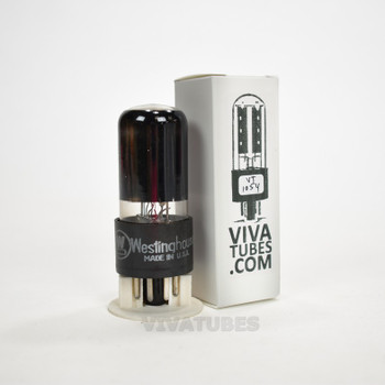 Tests NOS GE USA 6W6GT Grey Box Plate BTM [] Get Smoked Glass Vacuum Tube 100+%