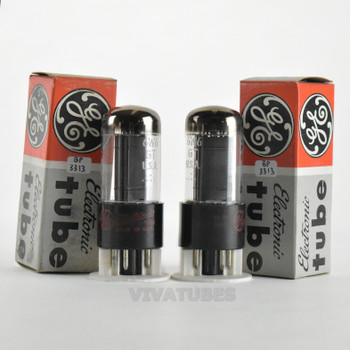 True NOS NIB Date Matched Pair GE USA 6W6GT Black Box Plate O Get Vacuum Tubes