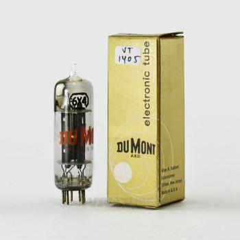 True NOS NIB DuMont USA 6X4 [EZ90] Black X Plate Top [] Get Vacuum Tube