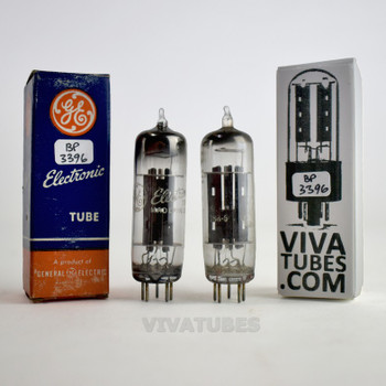 Tests NOS Matched Pair GE USA 6X4 [EZ90] Black X Plate [] Get Vacuum Tubes