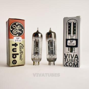 Tests NOS Matched Pair GE USA 6X4 [EZ90] Grey Plate [ ] Get Vacuum Tubes