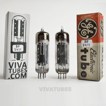 Tests NOS Matched Pair GE USA 6X4 EZ90 Grey Plate [ ] Get Vacuum Tubes