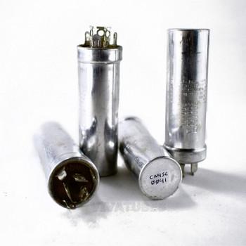 Lot of 4x Vintage Sprague Electrolytic Can Capacitors 40/40/40uF 200/200/200V