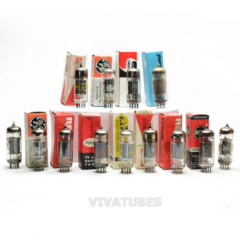 Lot of 13X. Vintage 6KA8 Loose/Boxed Glass Vacuum Tubes. Untested Mixed Brands.