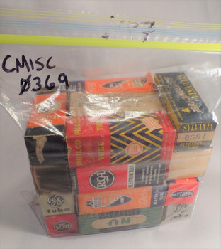 Lot of 20X. Vintage 6SR7 Boxed Metal Vacuum Tubes. Untested Mixed Brands.