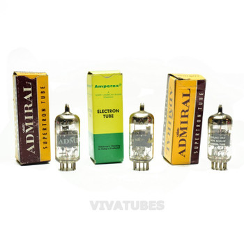 Lot of 3X. Vintage 6U9 Boxed Glass Vacuum Tubes. Untested NOS.