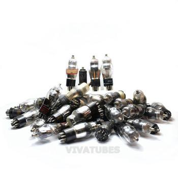 LOW/BAD TESTING AS-IS Lot of 55X. Vintage 6K8 Loose Glass Vacuum Tubes