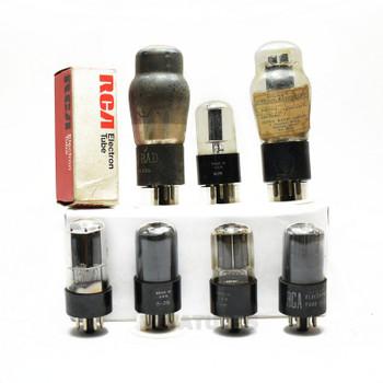 LOW/BAD TESTING AS-IS Lot of 7X. Vintage 6N7 Loose Glass Vacuum Tubes