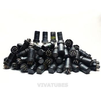 LOW/BAD TESTING AS-IS Lot of 70X. Vintage 6SJ7 Loose Metal Vacuum Tubes