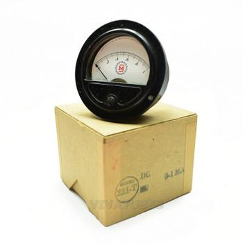 "NOS NIB 221-T Round DC Volt Panel Meter 0-1 Amps Range VDC 2 1/2"" Ammeter"