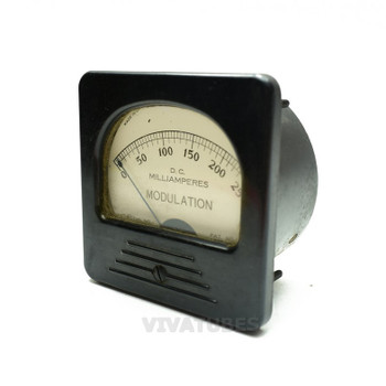 "Vintage 327-A Square DC Milliamperes 0-250 Ma RF Modulation 3"" Ammeter"